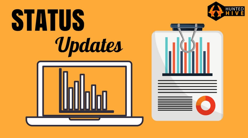 status updates web development